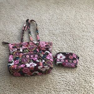 Very Bradley purse and cosmetic bag